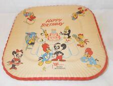 4 Vintage Woody Woodpecker Happy Birthday paper plates