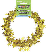 20ft GOLD WIRE FOIL GARLAND Christmas Star Wire Foil Garland Decorations
