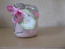 New Pale Pink Rose Water Scented Jar Candle In Clip Top Perserve Glass Jar