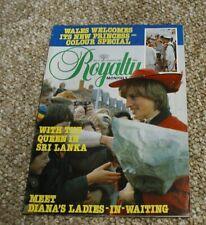 Royalty Monthly Magazine Issue No 5 November 1981. Princess Diana