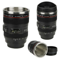 24-105mm Stainless Top Lens Bottle Camera Travel Coffee Tea Mug Cup Water Bottle