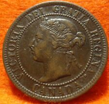 1899 XF High Grade CANADA LARGE CENT Victoria COIN NoRes CANADIAN