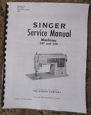 Singer 347 348 Sewing Machine Service Repair Adjusters Manual Book