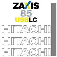 Hitachi ZX85USB LC Decals Stickers Kit - New Repro Decal kit