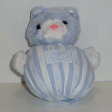 Doudou Chat Tartine et Chocolat - Blanc bleu - Petit modèle