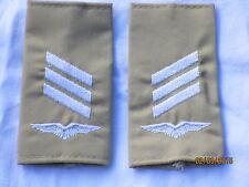 Bw-Rangschlaufen: Hauptgefreiter, Luftwaffe , weiß/khaki