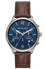 Michael Kors MK8636 Classic 48MM Men's Chronograph Brown Leather Watch