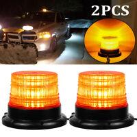 2X Car Bus Forklift LED Beacon Light Strobe Roof Top Emergency Flash Warning 12V