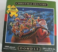 DOWDLE Christmas Delivery SANTA Bag of Toys 1000 pc Jigsaw PUZZLE Unopened USA