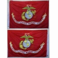 2x3 2/'x3/' EGA USMC Marines Marine Corps Flag Aluminum Pole Kit Set