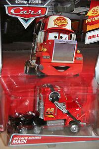 "DISNEY PIXAR CARS 2 ""PIT CREW MEMBER MACK"" BRAND NEW, DELUXE MODEL, 1:55 SCALE"