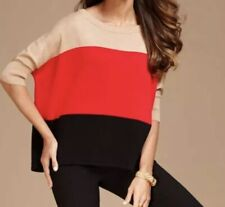 INC International Concepts Color Block Sweater Size Large NWT