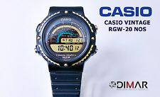 VINTAGE CASIO RGW-20 NOS RADIAL GRAPH WR.100 CASE COLOR GOLD