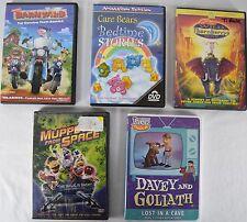 5 DVD Kid Cartoon Set Muppets Barnyard Care Bears Wild Thornberrys Davey Goliath