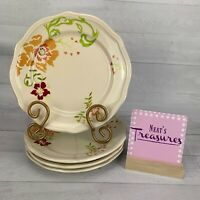 Better Homes and Garden CITRUS BLOSSOMS Stoneware  Salad Lunch Plates Set 4
