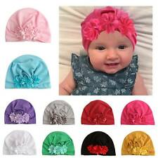 Flower Newborn Infant Baby Girls Turban Beanie Cap Hat Headband Hair Band Wrap