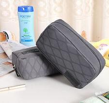 Mens MINI Toiletries Bag Wash Shower Organizer Kit Case Grey Really Mini #15
