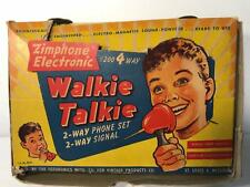 Vintage Zimphone Electronic Walkie Talkie Toy Set with Box