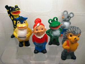 6x Salamander Quitsch-Figuren: Lurchi und seine Freunde / 70er Jahre / Sammlung