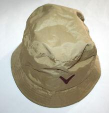 Ladies Callaway Bucket style Waterproof Bronze / Burgundy Rain Hat in Size Small