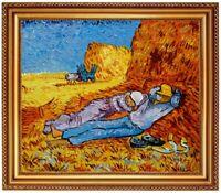 Ölbild Siesta nach Heuarbeit Vincent van Gogh HANDGEMALT  ca 38x33cm