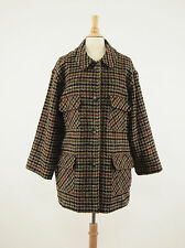 1990s WOOLRICH Vintage Houndstooth Wool Thigh-length Hunting Button Coat XL