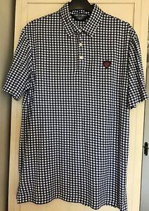 Polo Ralph Lauren Golf Men's Short Sleeve Pima Cotton Check Top Size Medium