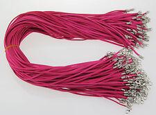 Al Por Mayor 10 Piezas Rosa Rojo Piel De Ante Cuerda 50.8cm Cordones Para Collar