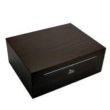 LUBINSKI Spanish Cedar Wood Cigar Humidor Box Cabinet w/ Humidifier Hygrometer