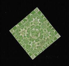 Nova Scotia 1857 Scott 4 6p Yellow Green Mint Condition Very Nice |