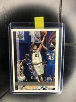 Tim Duncan 1997-98 Topps Rookie Card #115 RC Spurs HOF