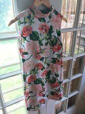 American Apparel Floral Mock Neck Open Back Dress,