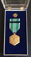 Vintage U.S. Army Commendation Medal for Military Merit (w/ Ribbon, Pin & Cases)