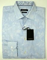 NWT $199 Bugatchi Blue Striped Shirt Classic Fit Mens M XL Long Sleeve Cotton