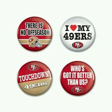 SAN FRANCISCO 49ERS 4 PACK BUTTON SET NEW FREE SHIPPING!