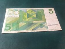 5 Netherlands Gulden banknote dated 1973