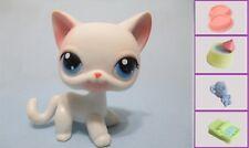 LITTLEST PET SHOP SHORT HAIR PINK & WHITE CAT+ #64 100% Authentic