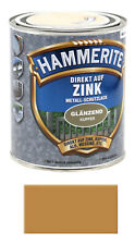 Hammerite Metallschutz Lack Direkt auf Zink kupfer 3,75L