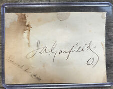 JAMES A. GARFIELD Handwritten Autograph Signed 20th President Assassinated