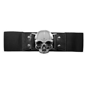 Authentic KREEPSVILLE 666 Elastic Waist Belt Skull Black S/M L/XL NEW