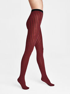 WOLFORD Karter 80 DEN Ultrasoft Tights Size M Two Tone Houndstooth AW 2020/21