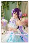 Love Live White Valentine's Day Nozomi Tojo Cosplay Costume Purple Dress Wings