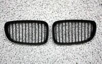 FRONT GRILL FRONTGRILL KÜHLERGRILL BMW E82 1er COUPE SCHWARZ MATT LINKS + RECHTS