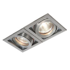 SAXBY XENO 2 Way Slim Profile Recessed GU10 Adjustable Aluminium Boxed Downlight
