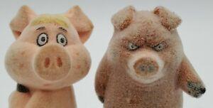 Vintagr 1985  Kissyfur figures Duane &  Lennie Lenny   Phil Mendez Pig McDonalds