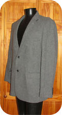 L.L. Bean Signature Suit Coat 46R Gray Herringbone 100% Wool Dress Jacket Lined