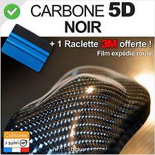 Carbone 5D noir 152cm x 70cm Film vinyle autocollant + outil de pose 3M moto
