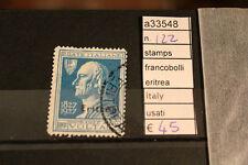 STAMPS FRANCOBOLLI ERITREA ITALY USATI N. 122 (A33548)