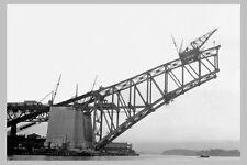 SYDNEY Harbour Bridge Construct 3rd of 7 views 'Abutment- span'  modern Postcard