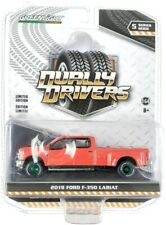 Chase 2019 FORD F-350 LARIAT DUALLY PICKUP TRUCK RED 1/64 GREENLIGHT 46050 E